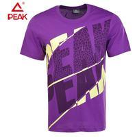 PEAK Brand Fashion Casual O- Neck T Shirt Cotton Summer Men Active Sport Shirts