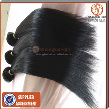 Unprocessed brazilian virgin high quality relaxed long hair straight price