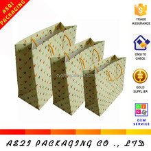 china supplier custom printing recycle luxury matte lamination paper shopping bag for wholesale