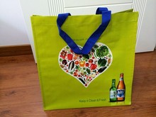 2014 cheap reusable pp woven shopping bag made in china