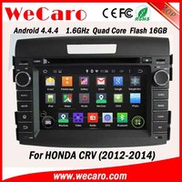 WECARO Factory OEM HD 1080P Pure Android 4.4.4 Car Dvd Player For Honda CRV DVD