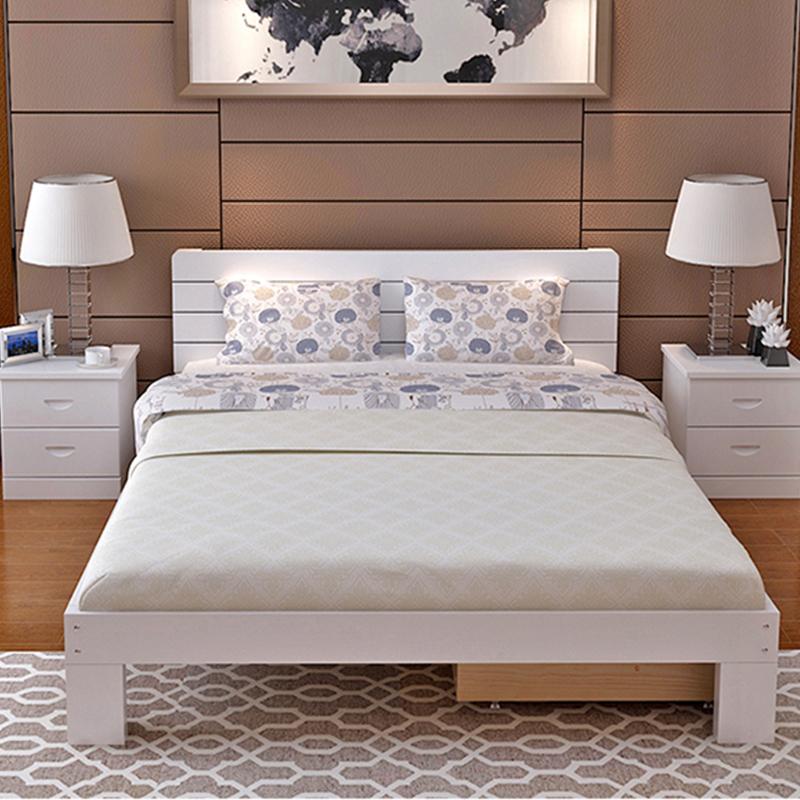 Al por mayor de madera de haya imágenes de madera cama doble