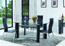 K115-2 Newest and cheap dining table design dining room table glass dining table