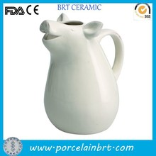 White small custom pig design giftware Dolomite Pitcher wholesale