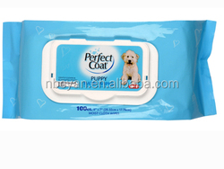 Multi function pet tender wipes pocket pack pet wet wipes wet wipes for promotional