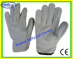 chinese products wholesale cow grain leather safety gloves/yellow or the white Color