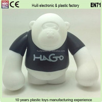 Custom soft plastic monkey toy,OEM small mini plastic toy monkey,Custom plastic monkey toy