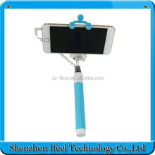 Fold able Extendable Mono pod Selfie Stick with Wired Cable shutter Remote