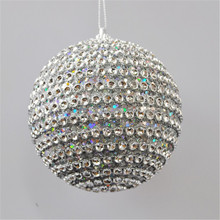 Top Selling Luxurious Silver White Foam Christmas Ball Decoration