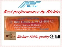 High power battery 18650 battery Richter brand IMR18650 2200mAh 3.7V 15A rechargeable battery