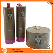 discount homemade paper folding cosmetic box with ribbon
