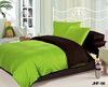 Wholesale bedding Korean bedding Sexy Chocolate and Lime Reversible 6pc Bed in a Bag Set