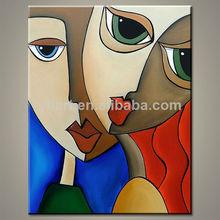 popular de picasso a mano moderno abstracto de mujer sexy pintura de la lona