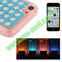 LED Phone Case for iPhone 5C with Call Reminding Function(blue+pink)