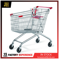 180L Asia Chrome High Quality Supermarket Shopping Trolley