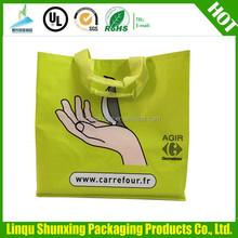 carrefour shopping bag/large shopping bag with zipper/non woven bag