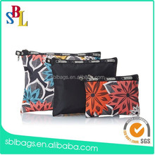 Promotion full printed travel cosmetic pouch bag & promotional flower printing cosmetic pouch bag