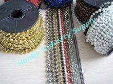 Multi Colored Metal Bead Chain for Ornament
