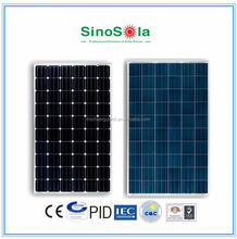 250 watt photovoltaic solar panel made by advanced fully-automatic solar module assembly line with TUV/IEC/CE/CEC Certificates