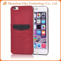 For apple iPhone 4s PU leather TPU hybrid combo card phone cover