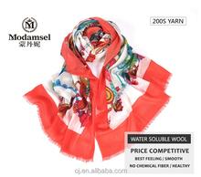 Super thin 100% pure wool hijab scarf
