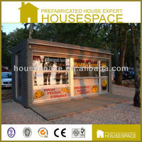 20ft low cost chip shop container