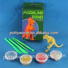 Modélisation sable, Set de dinosaure, Sable magique pâte