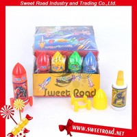 Rocket Shape Spray Candy in Box Packing