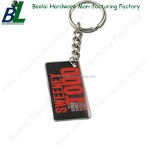 Engraveable rectangle printed custom metal name keychain