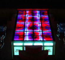 decoration liquid vinyl stage raised flooing tile lighted light up dance floor