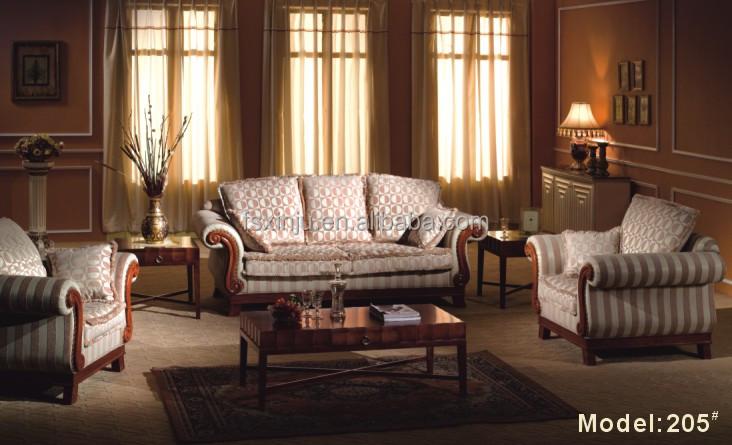 luxus wohnzimmer möbel:guangzhou luxus arabisch möbel leder wohnzimmer sofas hs01-Wohnzimmer