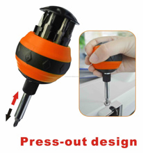 HZE-8348 9IN1 BALL TYPE RATCHET SCREWDRIVER &BITS SET