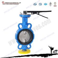 Wafer Cast iron manual butterfly control valve manufacture
