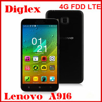 New Product Lenovo A916 4G LTE Smartphone 5.0 inch Octa Core MTK6592 Android 4.4 Mobile Phone 1GB RAM 8GB ROM 13MP Dual Sim