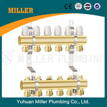 6-way superior quality Brass Plumbing Manifold With Plastic Handle Yuhuan Miller ML-7003