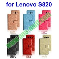 2014 Newest Leather Material Mobile Phone Case for Lenovo S820