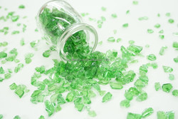 green glass chippings for decoration and terrazzo