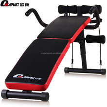 fold up weight bench with rope and handle bar and spring exercise