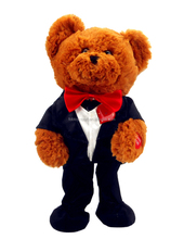 hot sale dancing and singing with LED lighting bear for Valentine's day gifts