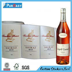 Custom sticker label printing, product wine label printing