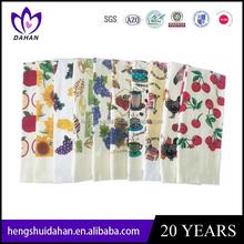 2015 latest design pigment printing cotton printed kitchen towel/tea towel wholesale
