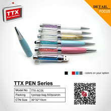 The office and school hot sales crystal metal advertising ball pen