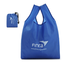promotional reusable supermarket grocery foldable polyester shopping bag