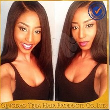 2015 Most Fashionable 100% Virgin Unprocessed Human Hair African American Full Lace Wigs