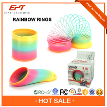 Children educational toy 3D spring rainbow toy for wholesale