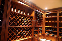 Wholesale French Style Antique Solid Wood Wine Cabinet manufacturer