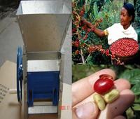 diesel engineer motor dirven coffee bean pulping machine