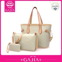 High quality fashion PU leather bags best selling 3 pieces women handbag china supplier