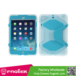 Kickstand PC & Silicone Dual Layer Extreme-Duty Cover For iPad Mini 1/2