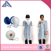 Hot selling cheap disposable pvc raincoat with keyring